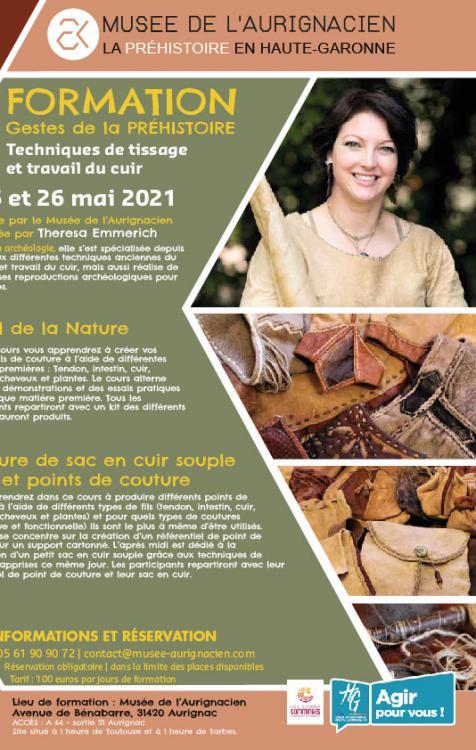 Formation aux techniques de tissage et travail du cuir